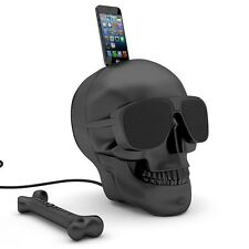 Bluetooth Wireless Skull Speaker iPhone Android Speaker Dock Station Portable