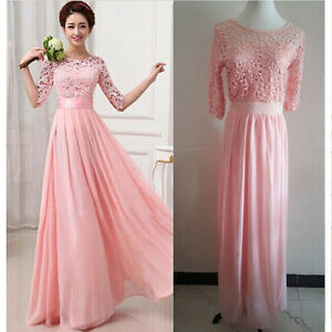 Cocktail-Dress-Prom-Gown-Women-Lace-Boho-Long-Maxi-Evening-Party-Dress