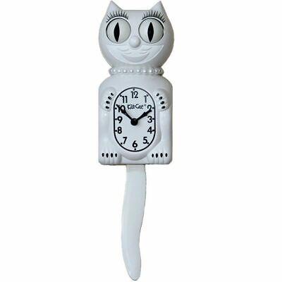 "WHITE KIT CAT CLOCK 15.5/"" MADE IN USA Official Kit-Cat Klock-FREE Priority Ship!"