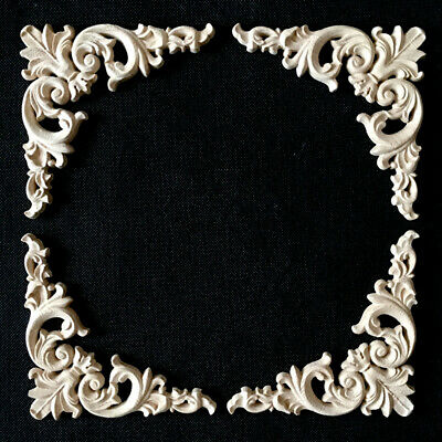 4x Decorative Wood Carved Appliques, Decorative Appliques For Furniture Nz