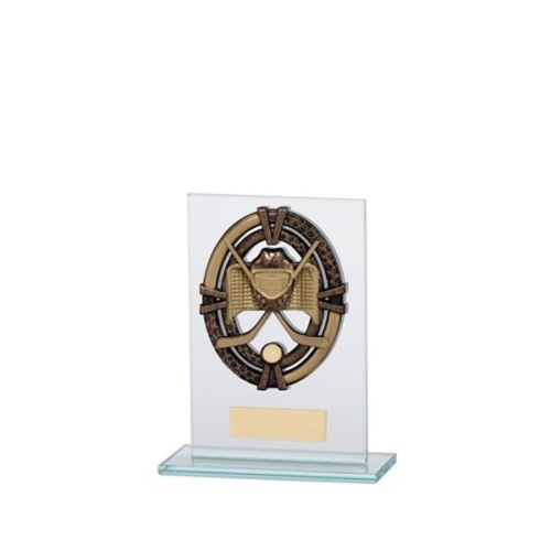 Ice Hockey Glass trophy Award in 4 Sizes with FREE Engraving up to 30 Letters