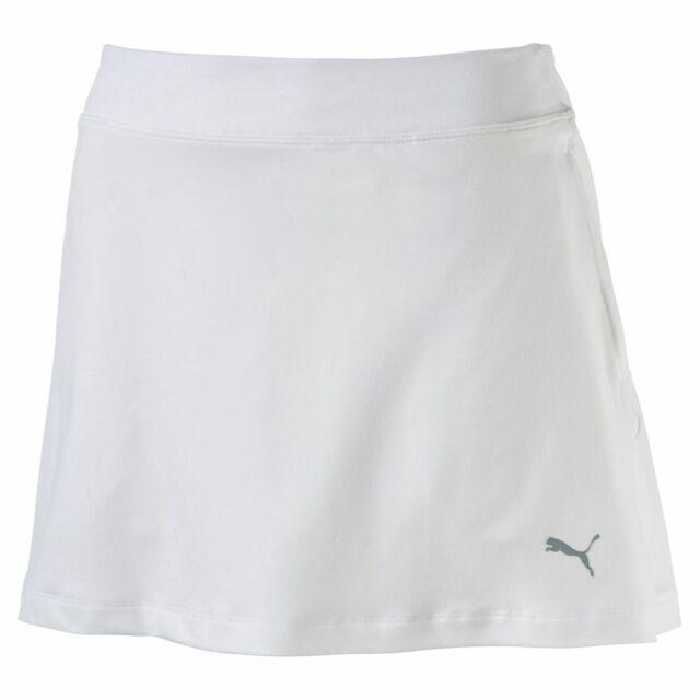 New Puma Golf Women's Solid Knit Skirt Skort 572866 - White - X-Large