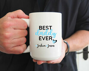 Best-Daddy-Ever-Coffee-Mug-Personalized-Mug-Father-039-s-Day-Gift-Gift-For-Dad