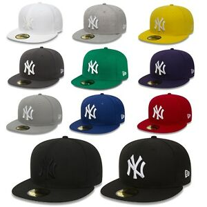 New-Era-Cap-59Fifty-Fitted-New-York-Yankees-MLB-Baseball-Cap-Basecap-Authentic
