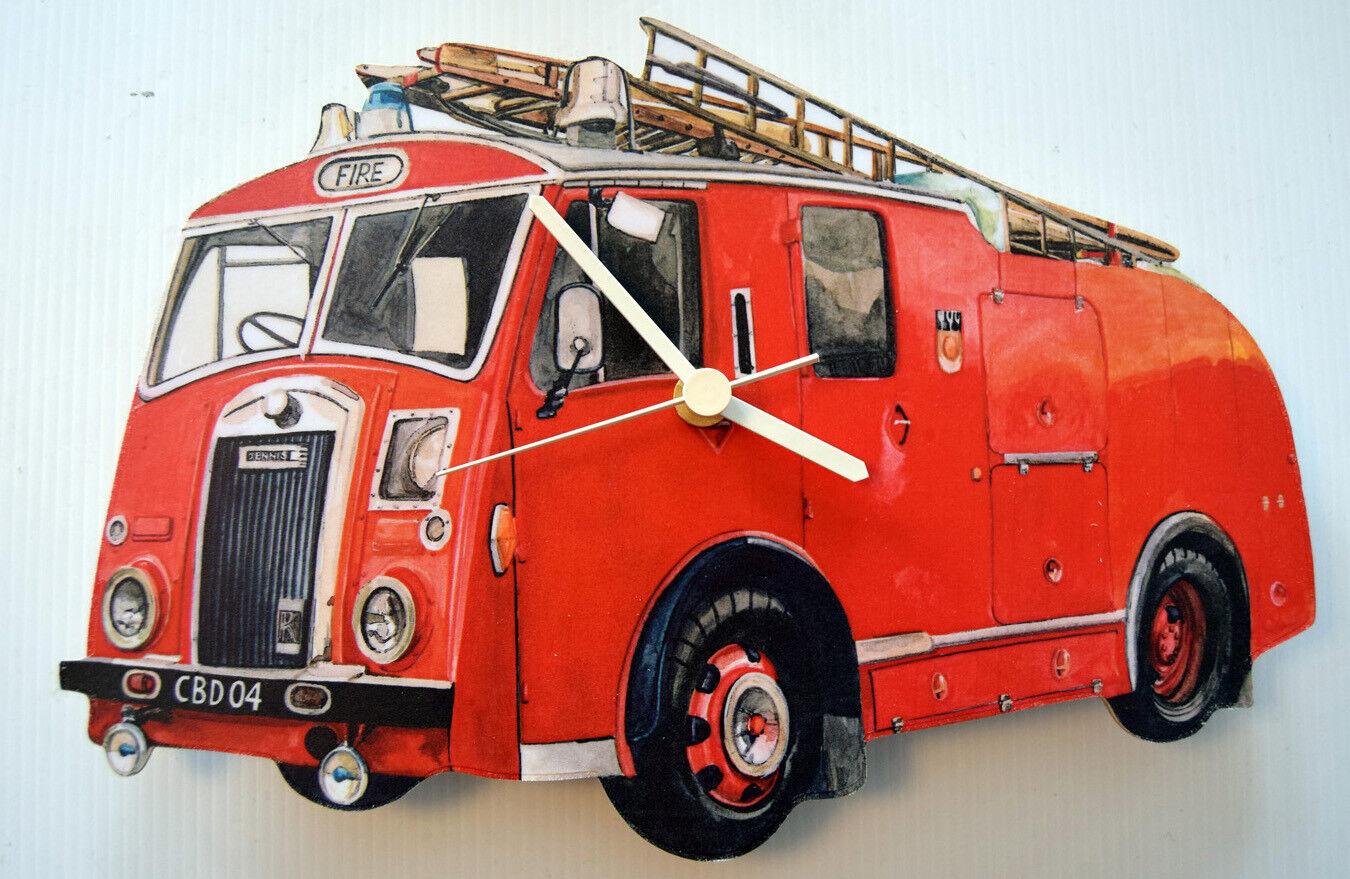 Green Goddess Fire Engine Wall Clock WT16