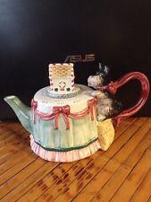 Christmas Tea Pot, Hot Chocolate, Coffee Pot  -  Dog Gingerbread House Christmas