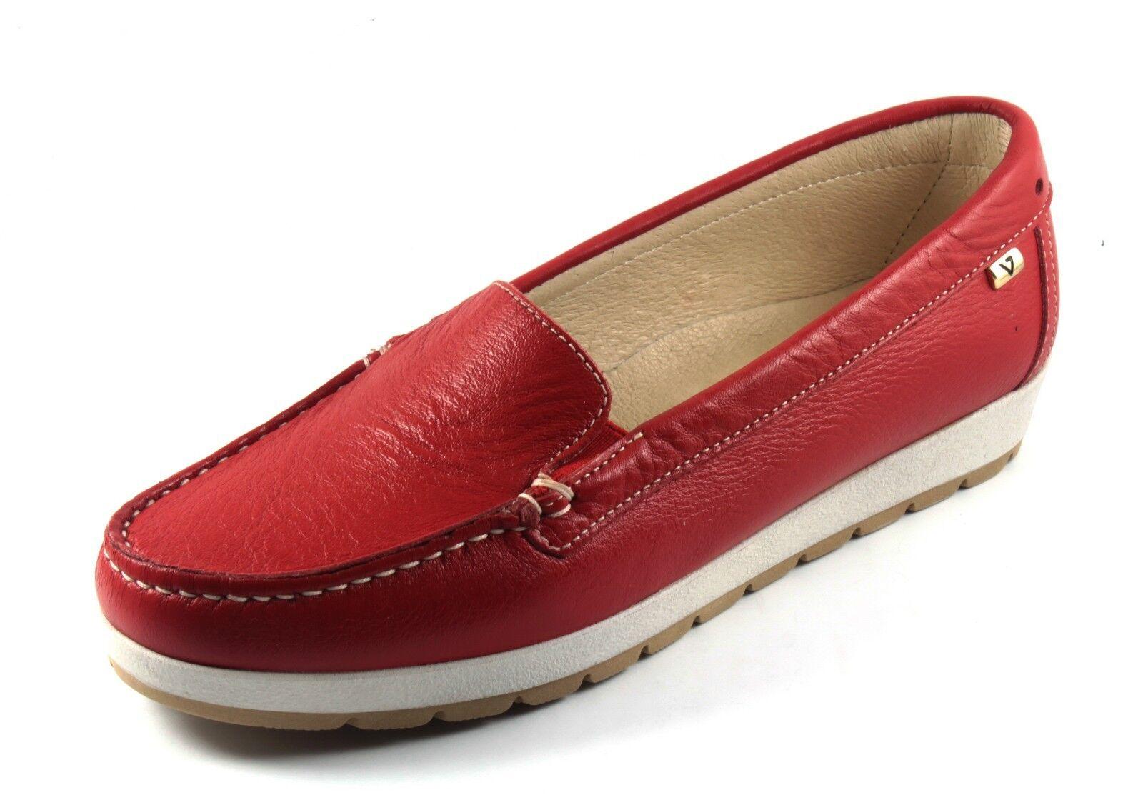 VALLEverde zapatos zapatos zapatos mujer MOCASSINO ESTIVE  PELLE rojo CORALLO MODA CONFORT n. 40  los clientes primero