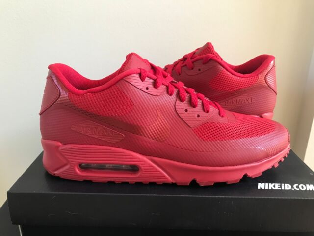 Nike Men s Air Max 90 HYP Hyperfuse ID Shoes Solar Red SZ 10  822560 ... fcfdc16c5a