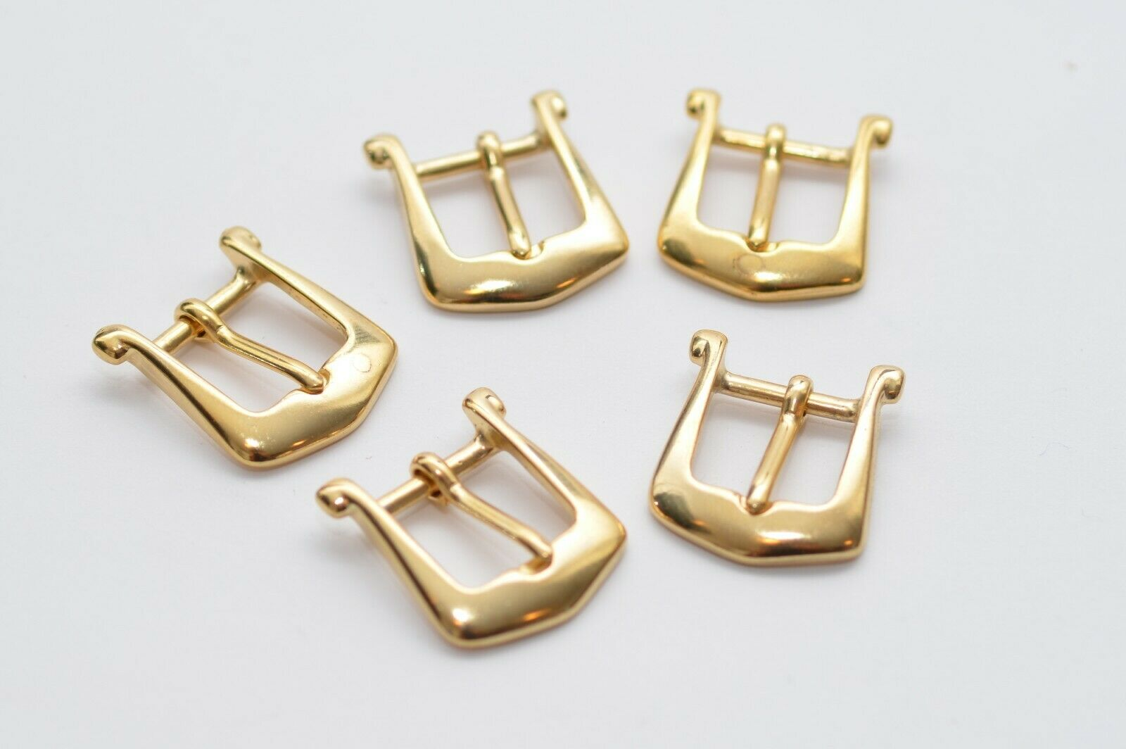 5x Small Belt Buckle Clasp Buckle For 15 MM Width, Gold, 80er Years