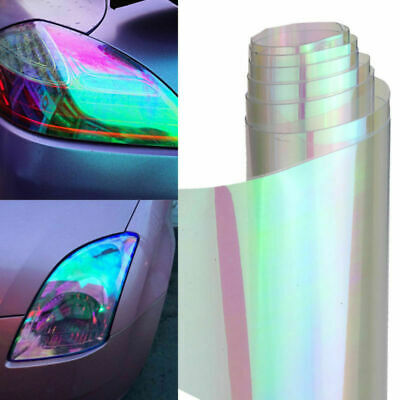"*12/""x12/"" Galaxy Chameleon Neo Chrome Green Headlight Taillight Fog Light Vinyl"