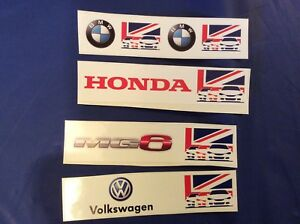 BTCC decals Honda, MG6, BMW & Volkswagon trackside 4x decals - Scalextric