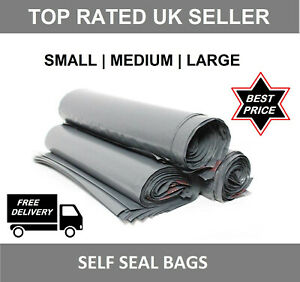 Details about  /MAILING BAGS Grey STRONG Parcel Postage Plastic Post Poly mailer SELF SEAL