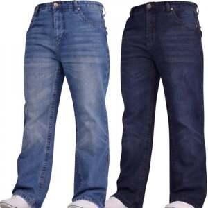 Mens-Hardwearing-Bootcut-Wide-Bottom-Durable-Cotton-Denim-Jeans-Waist-Leg-Sizes