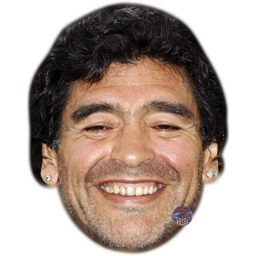 Card Face and Fancy Dress Mask Diego Maradona Celebrity Mask
