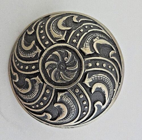 "Jeremiah Watt Scarf Ring Slide Bronze Button Concho 1 3//4/"" Wild Rag Bandana Tie"