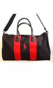b20a74d3dc Ralph Lauren Black   Red Duffle Bag Overnight Travel Gym Weekender ...