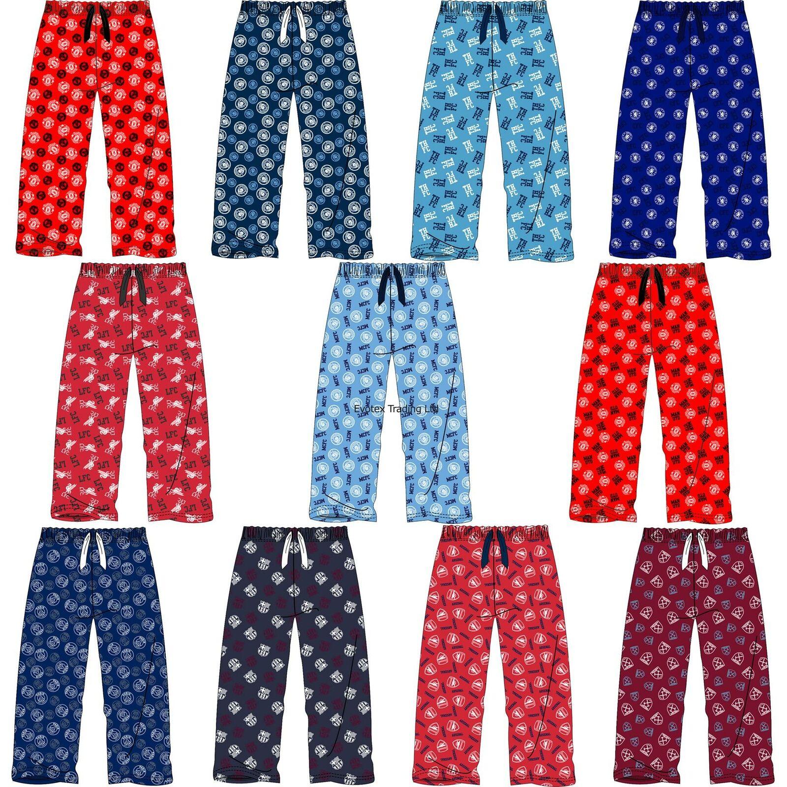 100/% Cotton Pyjama Bottoms Official Adults West Ham United Soccer Lounge Pants