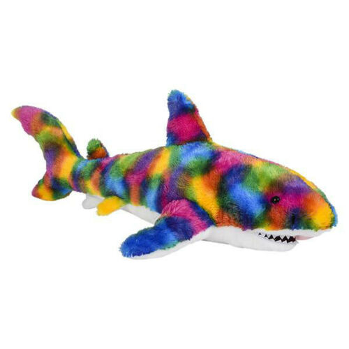 "LARGE 35/"" Rainbow Splatter Shark Stuffed Animals Kids Gifts Plush Soft Toys"