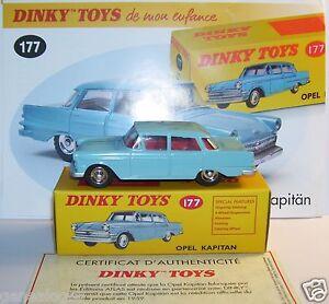 Dinky Toys Atlas Opel Kapitan Bleu Clair 1/43 Ref 177 Dans La Boîte