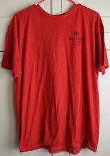 Men's BACARDI BLACK RAZZ Fruity Rum Large Red Logo Promo T-Shirt Bar Tee