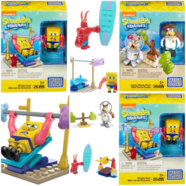 Megabloks Spongebob Squarepants Wacky Surfing Building Playset