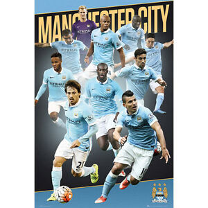Manchester City FC - Players 15/16 POSTER 61x91cm NEW * Soccer Football