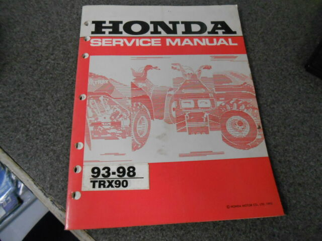 Honda Service Manual W   Wiring Diagram 1993