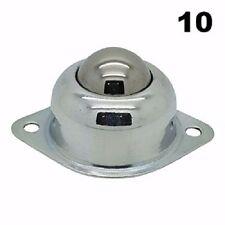 1in Flange Mount Conveyor Roller Ball Transfer Bearings / 75 Lbs Capacity-10pcs