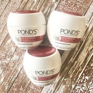 Pond's Rejuveness Anti Wrinkle Face Cream Firmer Skin 1.75oz Lot of 3 NEW