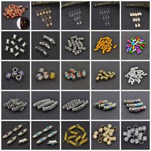 Alloy-Metal-Dreadlock-Hair-Beads-Dread-Beads-Hair-Braid-Pin-Rings-Clips-DIY-Cuff