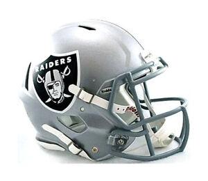 ... Oakland-Raiders-Riddell-Nfl-Football-autentico-Velocidad-Casco- 2fb255b845b