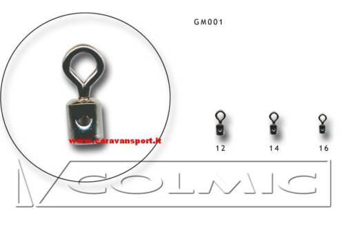 GIRELLA CON FORO GM001 SIZE 14 COLMIC ROLLING SWIVEL WITH HOLE FINALI TEMRINALI