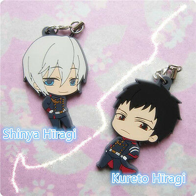 Seraph of the End  Kureto Hiragi Shinya Hiiragi Rubber Keychain rubber new