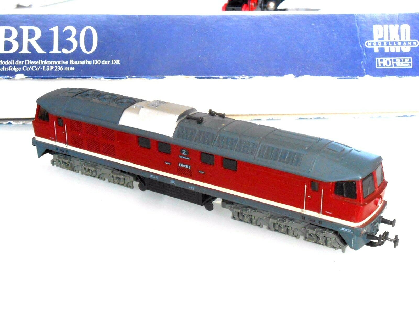 Piko h0 Diesellok BR 130 130005 -2 in Red Mint Condition Boxed