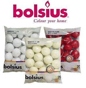 Premium-Bolsius-Floating-Candles-White-Ivory-amp-Red-Per-Pack-20-Candle