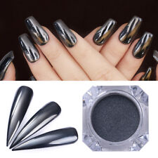 0.5G Mirror Black Nails Powder Born Pretty Nail Art Chrome Pigment Glitter Dust