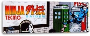 Ninja-Gaiden-Tecmo-Classic-Arcade-Marquee-Game-Room-Wall-Decor-Metal-Tin-Sign