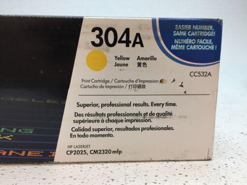 Genuine HP LaserJet CC532A 304A Yellow Toner Print Cartridge OEM NEW SEALED