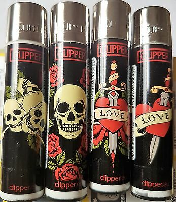 CLIPPER LIGHTER, TATTOO 2 LIGHTER X 4, NEW, FREE POST, UK SELLER