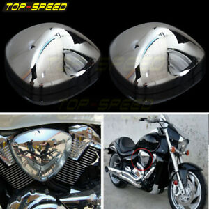 Chrome Air Cleaner Filfer Duct Cover For Suzuki Boulevard M109 M109R