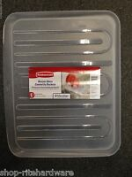 Rubbermaid Large Clear Sloped Microban Dish Drainer Tray Mat Drain Board