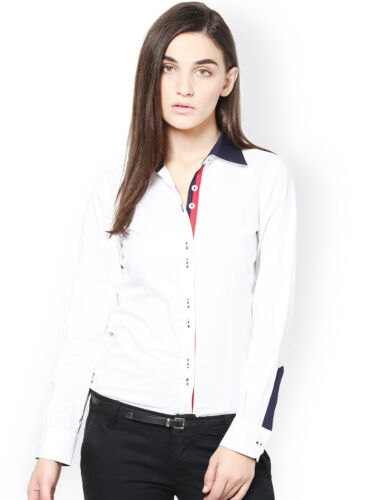 Women Business Shirt Formal Office Work Solid White Tops Dress Size S-5XL