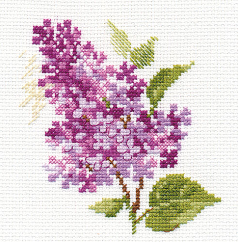 Sprig of lilac Counted Cross Stitch Kit ALISA