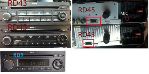 Cable USB Radio Peugeot 207 307 308 407 Citroen C2 C3 C4 POUR radio RD43 RD45