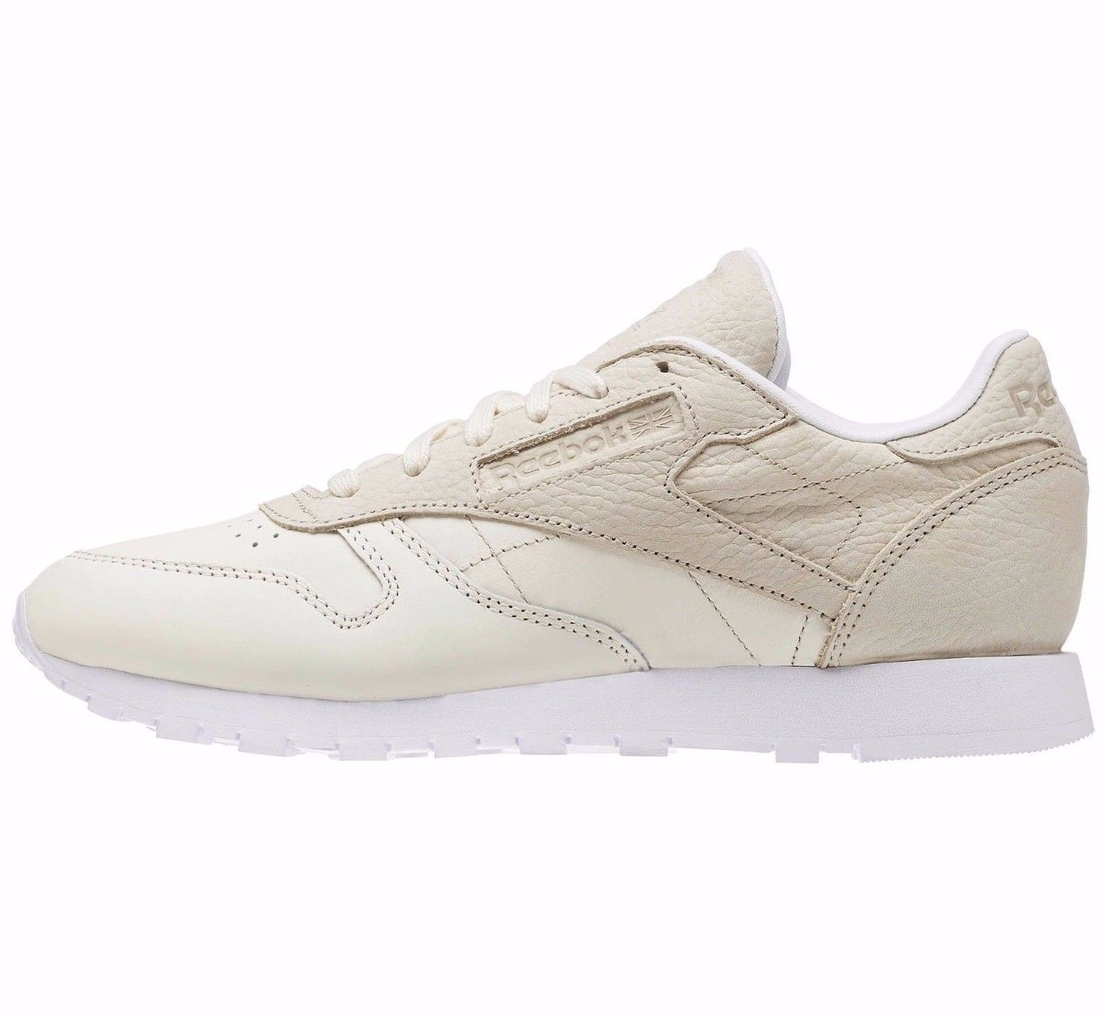 REEBOK CLASSIC LEATHER  SEA YOU LATER TRAINERS :  blanc /BEIGE : BD3105 :6, 7