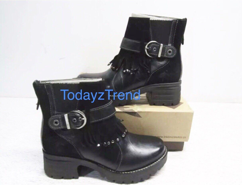 Dromedaris Women's Krissy Ankle Boot 7.5 US / 38 EUR Black Leather 39376-01
