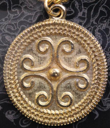 Roman filigrana pendente di scorrimento-placcato oro con le informazioni della carta * [rfspg]