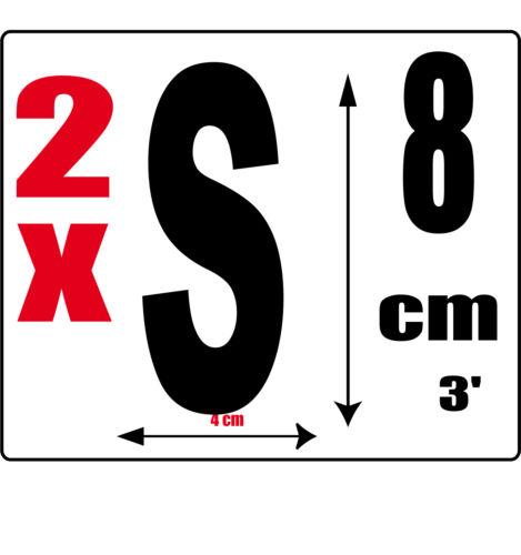 Sticker autocollant noir hauteur 8cm Lettre adhésive en vinyle O lot 2 lettres