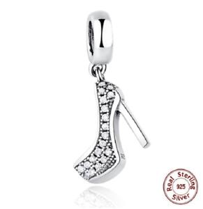 1b89e9e07 New Fashion 100% 925 Sterling Silver Stiletto Shoe Pendant Charm ...