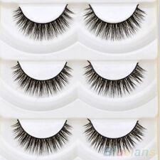 5 Pairs Long Thick Cross Makeup Soft Eye Lashes Extension Beauty False Eyelashes